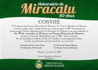 Aniversário de Miracatu 80 anos