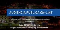 Audiência Pública- Estacionamentos rotativos (Zona Azul)