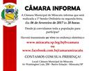 Convite - 1ª Sessão Ordinária