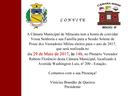 Convite Cerimônia de Posse Vereadores Mirins