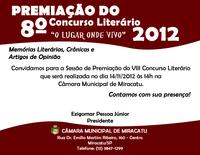 Convite - Premiação do 8º Concurso Literário