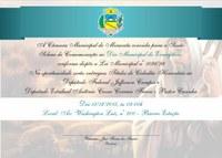 Convite Sessão Solene em comemoração ao Dia do Evangélico