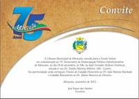 Convite - Sessão Solene de Aniversário - 2013
