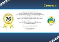 Convite Sessão Solene de Aniversário 2014