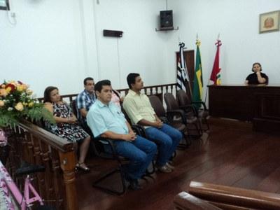 Vereadores presentes e Comissão Julgadora