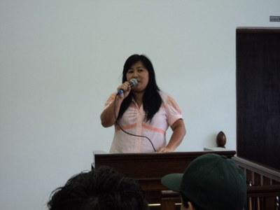 Professora Anita, autora do Projeto