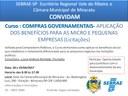 Curso sobre Compras Governamentais e Licitações do SEBRAE será realizado na Câmara Municipal de Miracatu