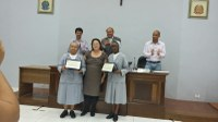 Homenagem às irmãs Mestras Pias do Projeto Lucianas
