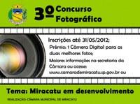 Inscrições abertas para o 3º Concurso Fotográfico