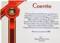 Sessão solene em comemoração aos 73 anos de emancipação
